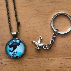 Jewelry - Aladdin genie necklace pendant keychain magic lamp